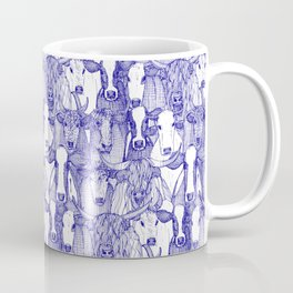 just cattle blue white Coffee Mug