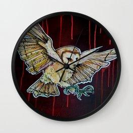 L'il Lard Butt - the Yellow Snowy Owl Wall Clock