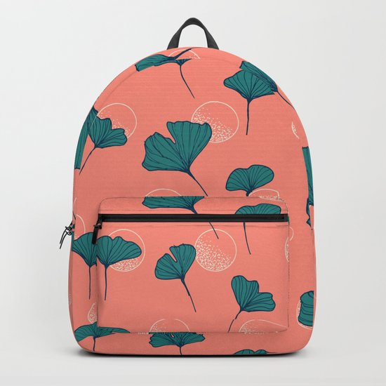 Bright Ginkgo & Dots #society6 #decor #buyart Backpack