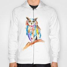 watercolor owl Hoody