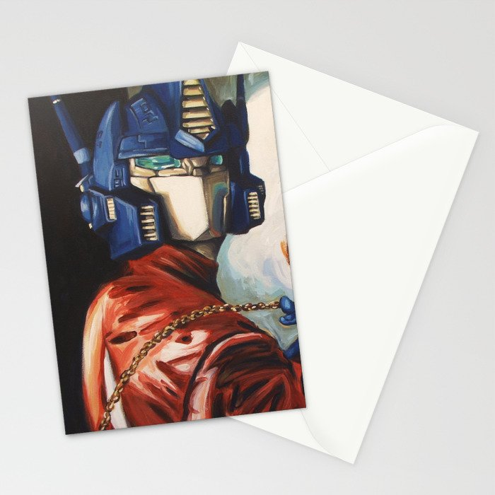 Optimus Prime With Sunflower Stationery Cards