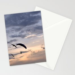 Paramotor in a Peach Sky - Florida, USA Stationery Cards