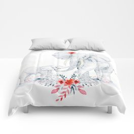 Mother's Day (Mother and Baby Elephants) Comforters