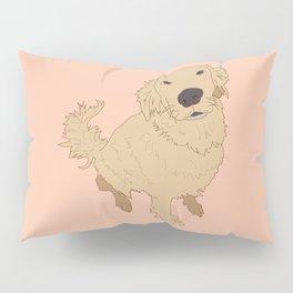 Golden Retriever Love Dog Illustrated Print Pillow Sham