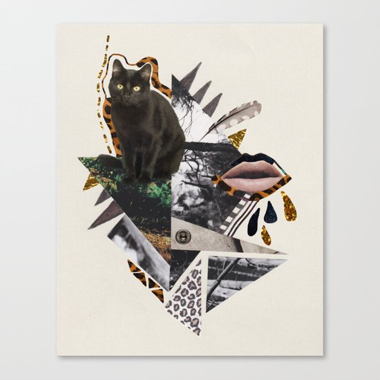 AYAHUASCA CAT Canvas Print