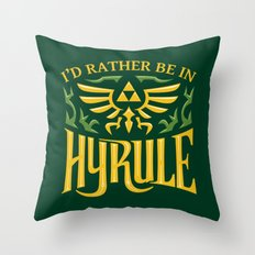 I'd Rather be Adventuring Throw Pillow