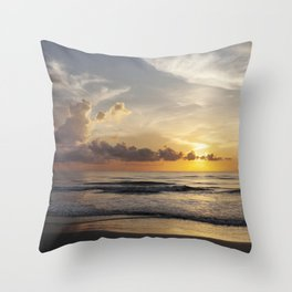 Sunrise over Water Throw Pillow