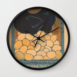 Vintage poster - I am a Fine War Hen Wall Clock