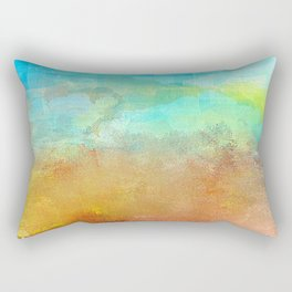 Abstract Textured Landscape Rectangular Pillow