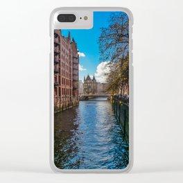 Speicherstadt-Hamburg, Germany Clear iPhone Case