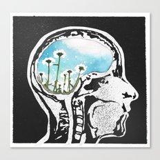 Brain Flowers Canvas Print