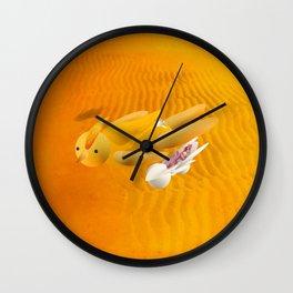 Time bunny girl with Robo Wall Clock