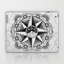 Journey to Moon Mountain | Black & Grays Laptop & iPad Skin
