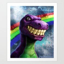 Barney the dinosaur Art Print