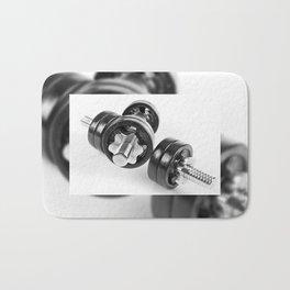 screwed hand barbells weights Bath Mat