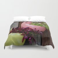 sister Duvet Covers featuring Sister Love by oneofacard