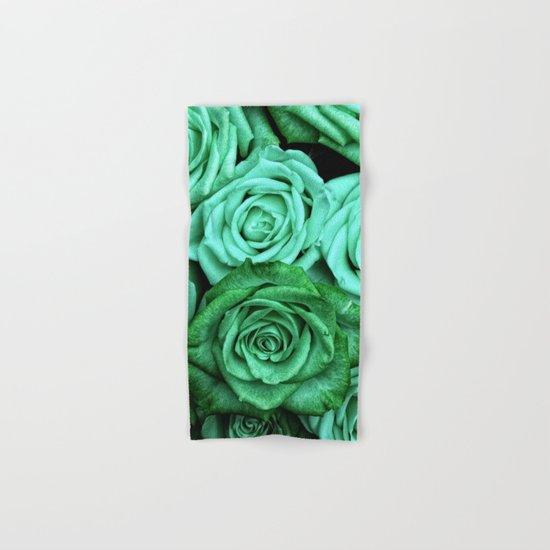 Sea Green Roses Hand & Bath Towel