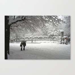 Love In The Snow 1 Canvas Print