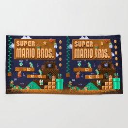 Mario Super Bros Beach Towel