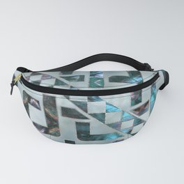 Abstract Geometric Labradorite on Mother of pearl Fanny Pack