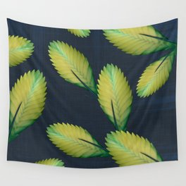 Tillandsia in dark blue Wall Tapestry