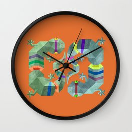 Polygonal gecko Wall Clock