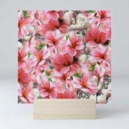 Pink magnolias, digital flower design Mini Art Print