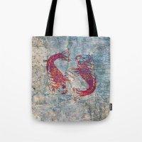 koi Tote Bags featuring Koi by Vitta