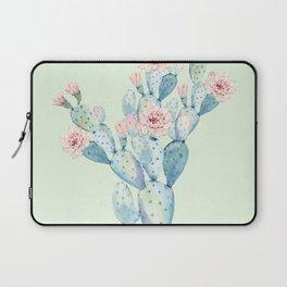 Rose Desert Cactus Mint Green + Pink by Nature Magick Laptop Sleeve