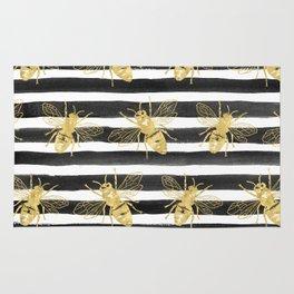 Golden bee noir Rug