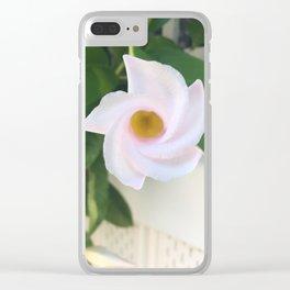 Unfurling beauty Clear iPhone Case