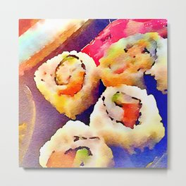 Sushi night Metal Print