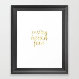 Resting Beach Face Framed Art Print
