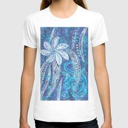 SAMOAN Decor - Hawaiian Decor - Cool Blue Breeze T-shirt