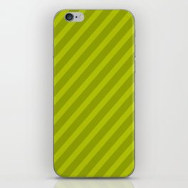 Green Diagonal Stripes iPhone Skin