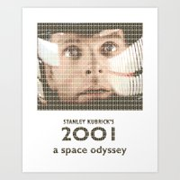 2001 Art Prints featuring 2001 by cocksoupart