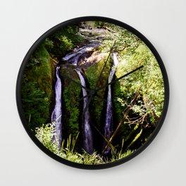 Three Waterfalls Wall Clock