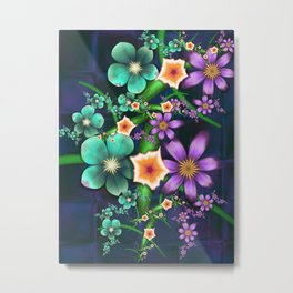 Flower Crop Metal Print