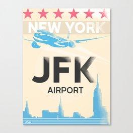 JFK stylish airport code Canvas Print