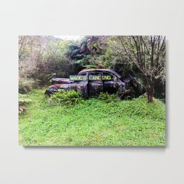 Abandoned in the woods Metal Print