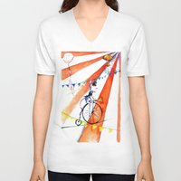 circus V-neck T-shirts featuring Circus by LolMalone