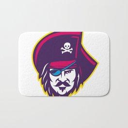 Privateer Pirate Head Mascot Bath Mat