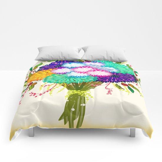 BOUQUET FLOWERS Comforters