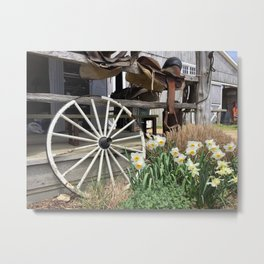 Rustic Farm Scene Metal Print