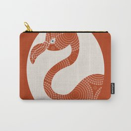 Floral Flamingo Carry-All Pouch