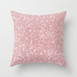 Bridal Rose Polka Dot Bubbles Throw Pillow