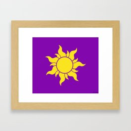 Rapunzel's Golden Sun Framed Art Print