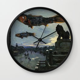 Louis Dumoulin - Carp Banners in Kyoto Wall Clock