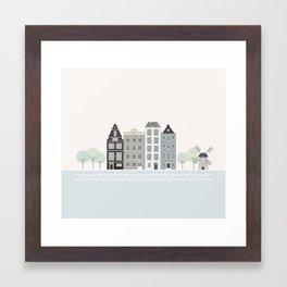 Amsterdam Houses Framed Art Print