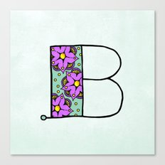 B b Canvas Print